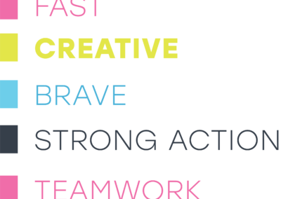fastCreativeBraveStrongActionTeamwork